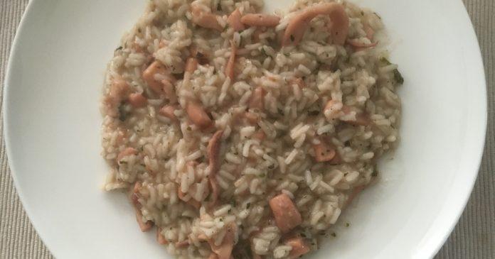 rižoto s lignjama